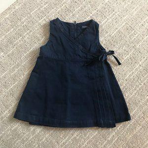 Ralph Lauren Navy Wrap Dress for Baby
